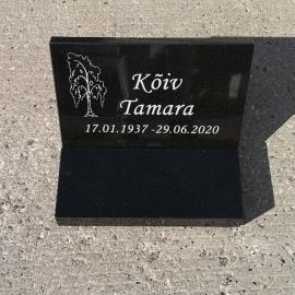 Надгробная плитка +   Гранитная подставка